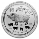 Australia  Lunar Pig 1 oz Silver 2019