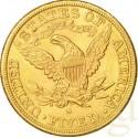 Gold Coin 5 USD Half Head Eagle 1886
