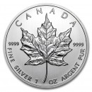 Maple Leaf  5 Dollars 1 oz  Silver - 2012