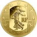 The New Franc 50 euro 1/4 oz   Gold 2020