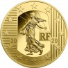 The New Franc 50 euro 1/4 oz   Gold 2020