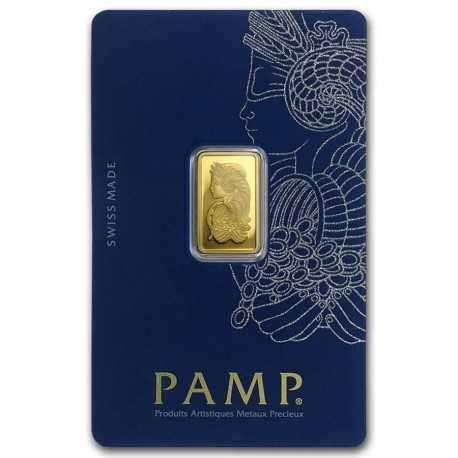 2.5gr. Fortuna Gold Bar - PAMP Suisse