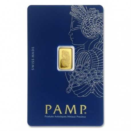 1gr. Fortuna Gold Bar - PAMP Suisse
