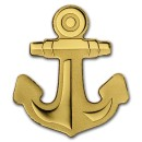 Golden Anchor  0.5 gr Palau $1