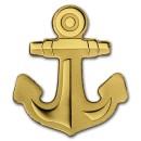 Golden Anchor  0.5 gr Palau $1
