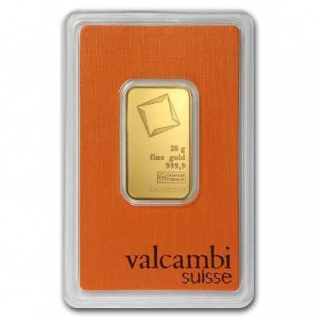 20 gr. Austrian Gold Bar Valcambi