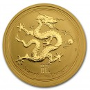 Gold Lunar Dragon  1/2 oz  2012 Australia  BU (Series II)