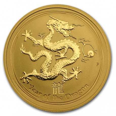 Gold Lunar Dragon  1/2 oz  2012 Australia  BU (Series II)