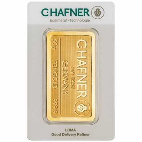 50 gr. Gold Bar   C-Hafner