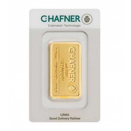 1 oz. Gold Bar C-Hafner