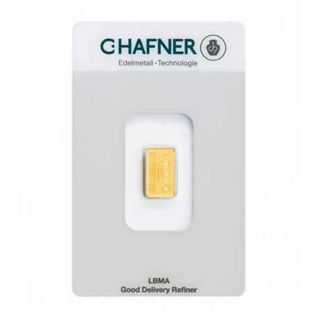 2 gr. Gold Bar C-Hafner