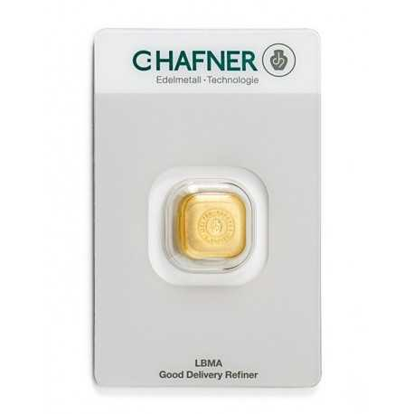 1oz Gold Bar C-Hafner Casted