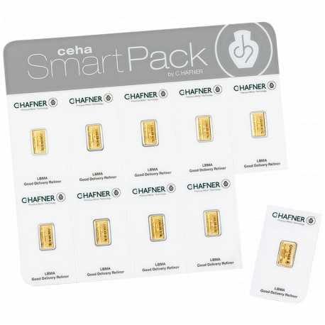 1 x 10 gr Smart Pack C - Hafner Gold Bar