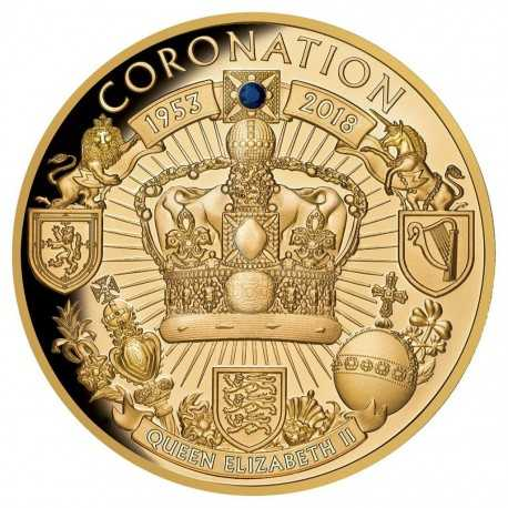 Gold Coin - Coronation anniversary of Queen Elisabeth II  1oz 2018