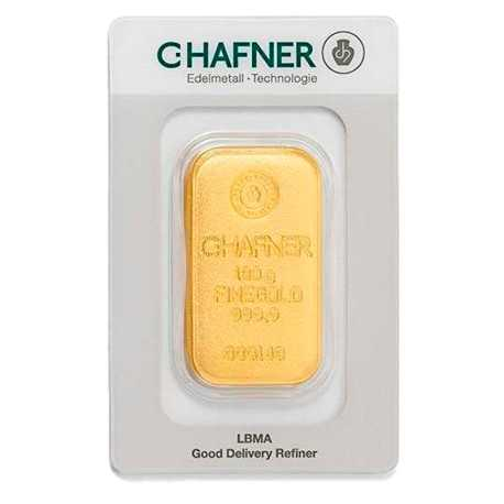 100 gr Gold Bar C-Hafner Casted