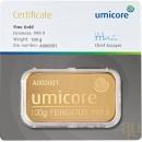 100 gr Gold Bar Umicore