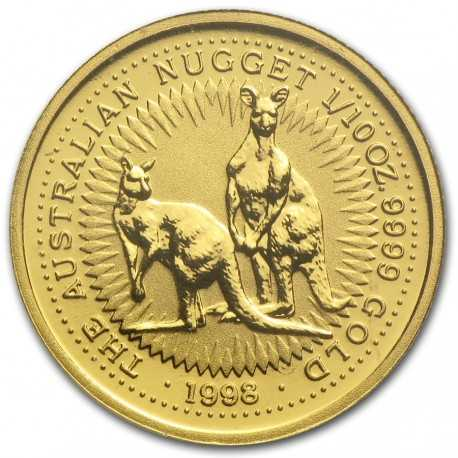Nugget / Kangaroo, 1/10oz Gold, 1998