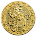 Queen's Beasts Lion 1/4  oz 2016 Gold