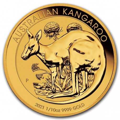 Australian Kangaroo 1/10 oz 2021 Gold coin