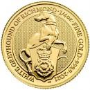Queen's Beasts White Greyhound 1/4 oz 2021 Gold