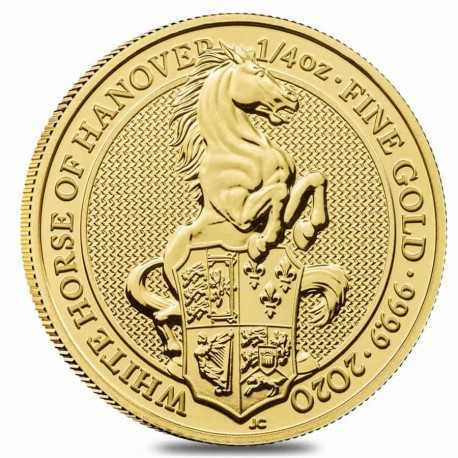 Queen's Beasts White Horse, 1/4 oz. Gold, 2021