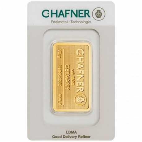 20 gr. Gold Bar   C-Hafner
