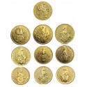 Queen's Beasts Set  1/4 oz 10 coins Gold