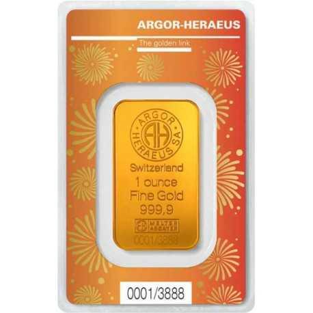 1oz Gold Bullion / Argor Heraeus Kinebar