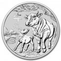 Lunar Ox, 1oz. Silver, 2021