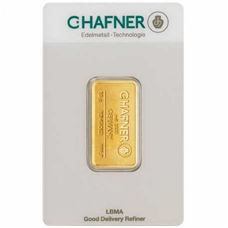 10 gr.Gold Bar C-Hafner