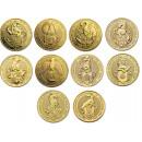 Queen's Beasts Set, 1 oz. Gold, 10 coins