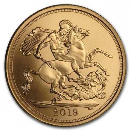 Gold Coin Sovereign 1/4 oz 2019 matt