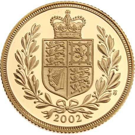Gold Coin Sovereign 1/4 oz 2002 Proof