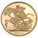 Gold Coin Sovereign 1/4 oz Fifth Portrait First Edition 2015 Proof