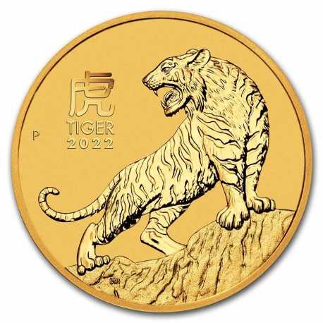 Australian Lunar Tiger 1/2 oz 2022 Gold