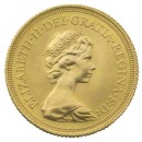 Full Sovereign Elizabeth II Decimal, Gold,  1974 -1982