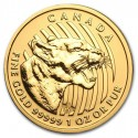 Growling Cougar ,1oz Gold, 2015 Canada