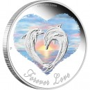 Forever Love Dolphins 1/2 oz, 2013 Proof