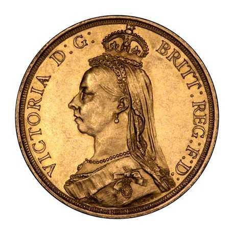 Full Sovereign Victoria, Gold, 1887-1893, Jubilee