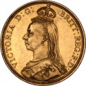 Full Sovereign Victoria, Gold, 1887-1893, Jubilee