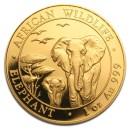 Somalia Elephant, African Wildlife, 1000 Shilling, 1oz Gold, 2015