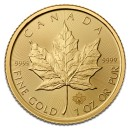 Canadian Maple Leaf, 1oz Gold, mix years