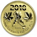Canadian Maple Leaf (Vancouver Olympics), 1oz Gold, 2010