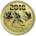 Canadian Maple Leaf (Vancouver Olympics)  1 oz 2010 Gold