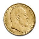 Full Sovereign Edward VII 1/4 oz 1902-1910 Gold