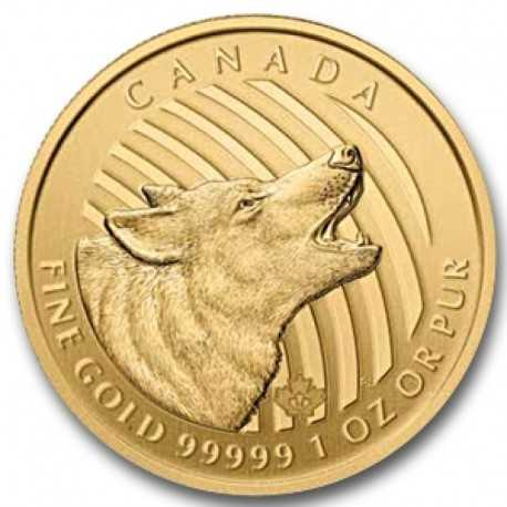 Gold Canadian Howling Wolf, 200 Dollar, 1oz Gold, 2014