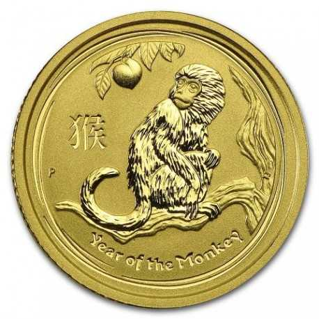 Lunar Monkey, 1/10oz Gold, 2016