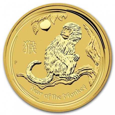 Lunar Monkey, 1/4oz Gold, 2016