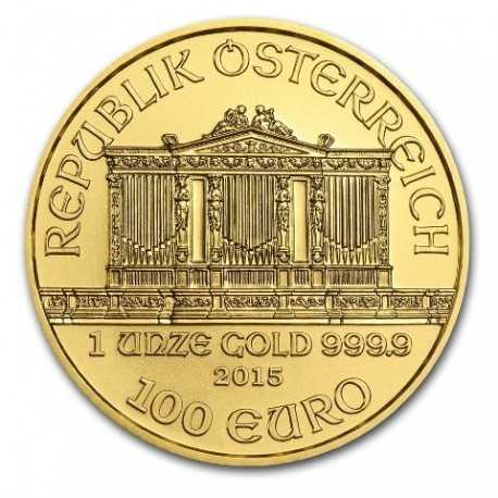 Austrian Vienna Philharmonic 1oz Gold, mixed years