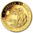 Somalia Elephant, African Wildlife,  1oz Gold, 2016